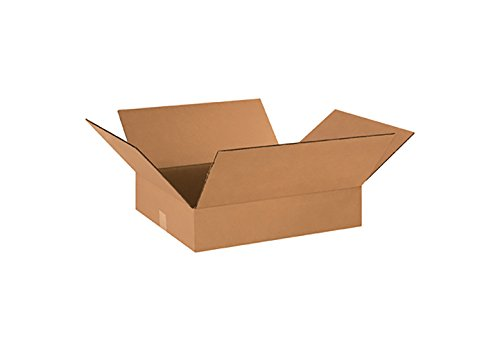 "RetailSource B181602CB1 Corrugated Box, 18"" Length x 16"" Width x 2"" Height, Brown"