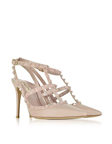 Sandales Qw1s0393vb8p45 Cuir Valentino Femme Rose wIPgx5nxq