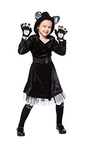 Halloween Children's Day Black Catwoman Cute Cat Animal