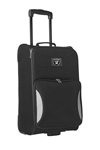 NFL Los Angeles Raiders Steadfast Upright Carry-On Luggage, 21-Inch, Black