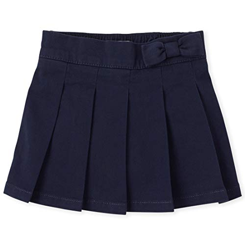 Cotton Skort Girl - The Children's Place Girls Slim Size Uniform Skort, Tidal, 4