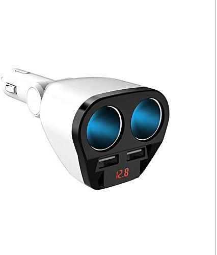 HWEN GPS電圧LEDディスプレイのための車のシガーライターアダプタ3つのソケットカースプリッタ5AデュアルUSBカーチャージャーアウトレット