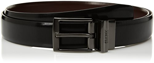 Kenneth Cole Reaction Leather Reversible Belt - Kenneth Cole REACTION Men's Reversible Dress Belt, black/brown, 38