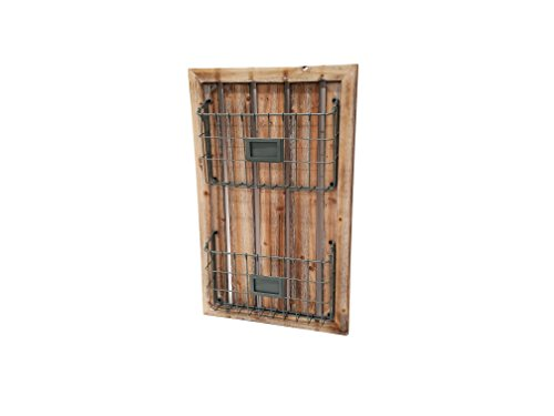 Wood and Metal Magazine Rack