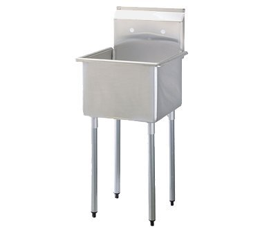 Turbo Air Stainless Steel 18'' Wide One Compartment Prep Sink