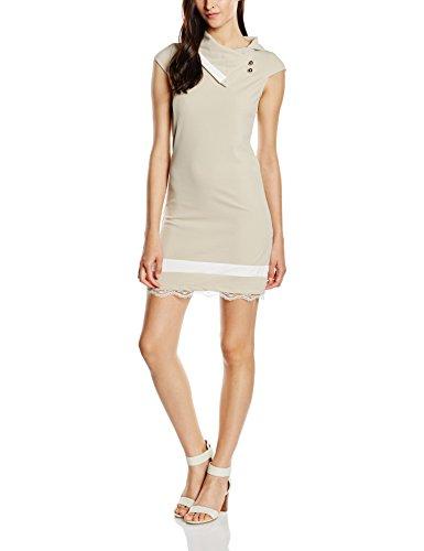 Les Damen Abito Sophistiquees Kleid Mehrfarbig Bianco Smanicato Beige BqCTOw