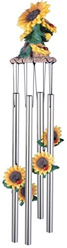StealStreet SS-G- Wind Chime Round Top Sunflowers