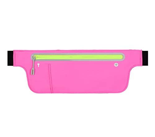 Running Vintage Sport Multifunzione Gym Spalla Mini Impermeabile Casual Borsa Marsupio Bag Waist Nylon Donna A Uomo Zaino Monospalla Rosa Unicolor Tracolla Skitor Ciclismo Viaggio 076BOO