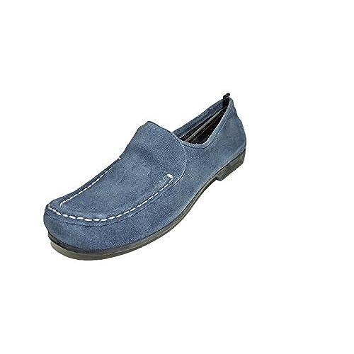 9500135b051 new Bernardo Womens Guidabene Blue Suede Flats Shoes