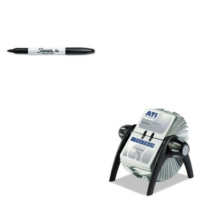 KITDBL241701SAN30001 - Value Kit - Durable VISIFIX Rotary Business Card File Holds 400 4 1/8 x 2 7/8 Cards (DBL241701) and Sharpie Permanent Marker (SAN30001)