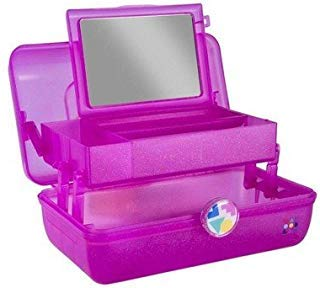(Caboodles On-the-Go Girl Hot Pink Sparkle Jellies Vintage Case, 1 Pound)