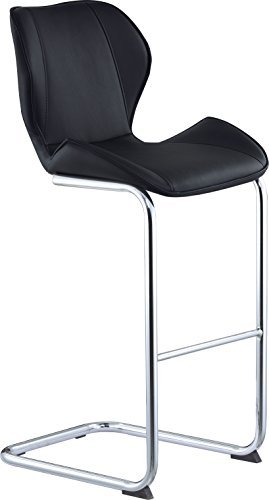 Global Furniture Bar Stool, Black Pu