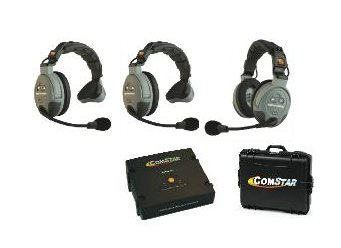 Eartec COMSTAR XT Full Duplex Wireless Intercom System with All-in-One Headsets (3 Person) (Headset Duplex Full)