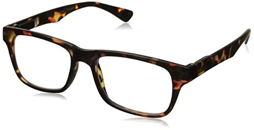 Peepers Unisex-Adult Fact or Fiction 705125 Rectangular Reading Glasses, - Fiction Eyewear