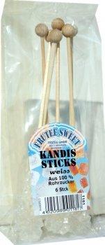 teeverliebt Kandissticks, weiß, 6 Stück i. d. Pckg. (frachtfreie Lieferung ab Einkauf € 15.-)