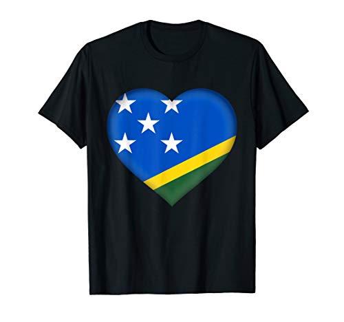 - I Love Solomon Islands T-Shirt   Flag Heart Outfit