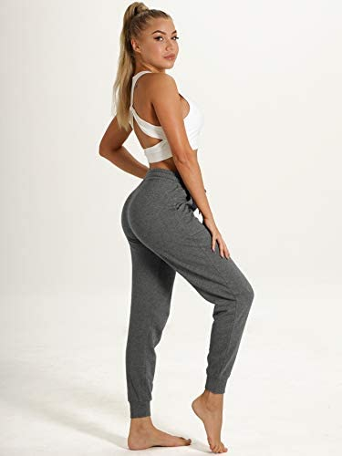 ICYZONE WOMEN SWEATPANTS JOGGERS ACTIVEWEAR WORKOUT RUNNING PANTS WITH POCKETS