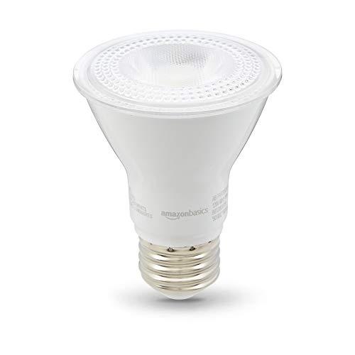 (AmazonBasics 50 Watt 10,000 Hours Dimmable 500 Lumens LED Light Bulb - Pack of 6, Warm White)