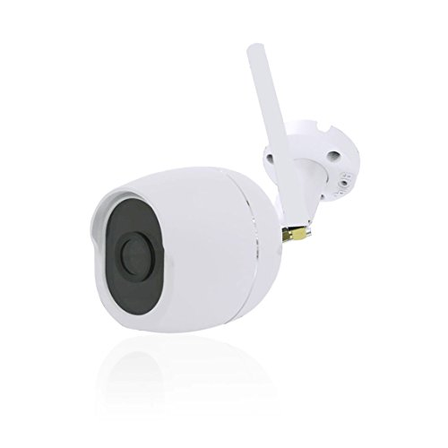 Security Bullet Camera, DIGOO DG-W01f 720P Waterproof Outdoor WIFI Security Surveillance IP Camera Cloud Storage 3.6mm Lens 25m IR Distance with Motion Detection Alarm Onvif Monitor (White) (Network Outdoor Camera Thermal)