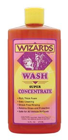 Wizards Wash Super Concentrate Car Wash, 16 oz Bottle, High Sudsing, Neutral (Wash Super Concentrate)