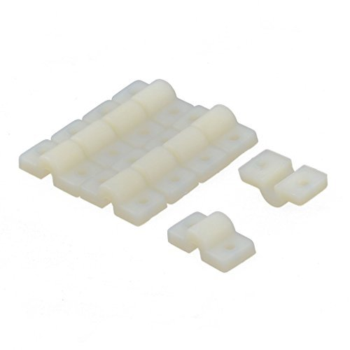 - DealMux 10 PCS RC Fuselagens Aircraft Parts Fio slot Nylon Landing Gear Straps Bege 20 mm de comprimento