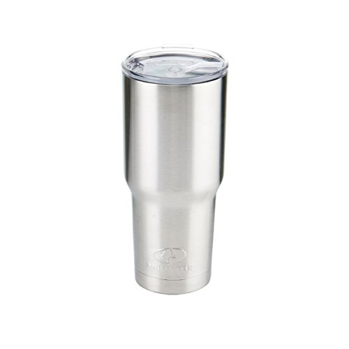 Silver Travel Tumbler - Mossy Oak Double Wall Stainless Steel Insulated Tumbler, 30 oz, Silver