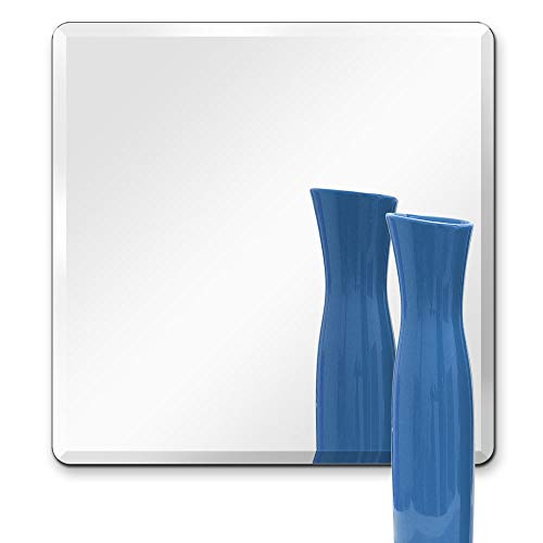TroySys Frameless Beveled Mirror Square Shape, 1/4