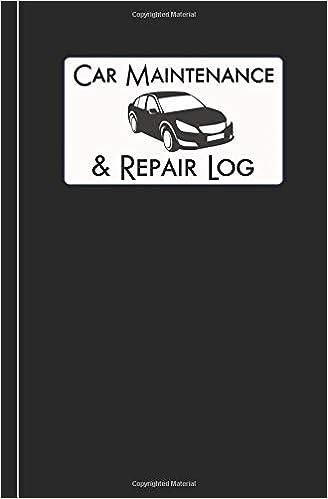 car maintenance repair log automobile care journal notebook car