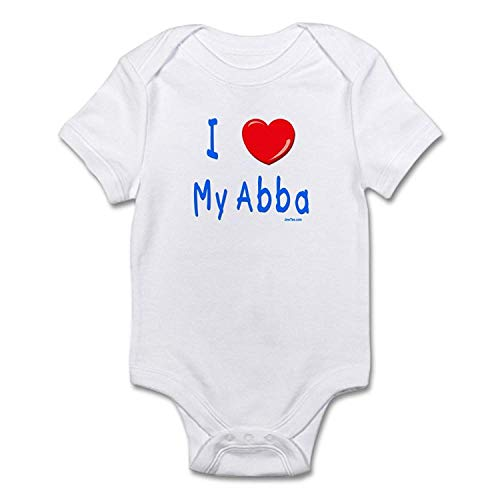 - I Love Abba Jewish Kids Cute Baby Romper Outfits Short Sleeve Clothes