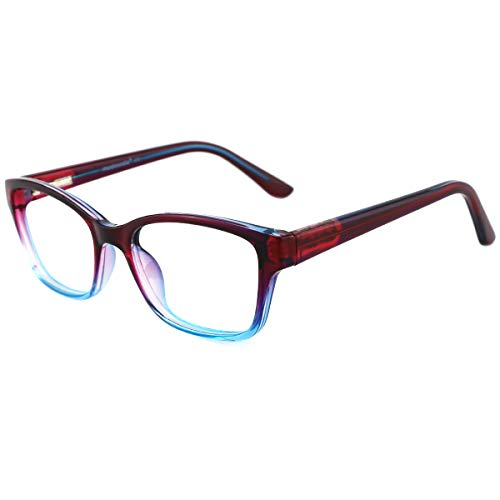 modesoda Kids Nerdy Rectangular Glasses Translucent Non-prescription Eyeglasses for Girls ()