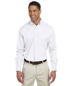 Chestnut Hill Men's 32 Singles Long Sleeve Twill Button Down Dress Shirt CH500 white XX-Large