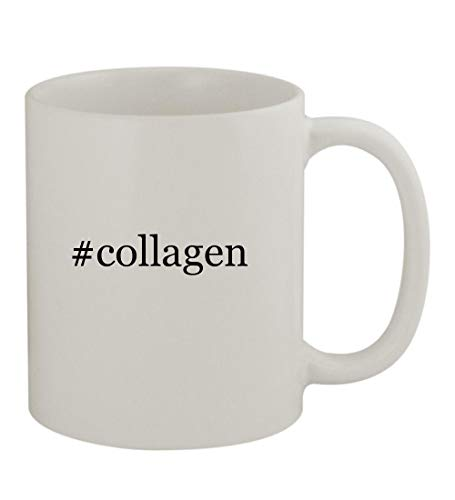 #collagen - 11oz Sturdy Hashtag Ceramic Coffee Cup Mug, White