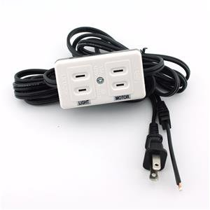 Universal Power Cord With Light & Motor Block For Home Sewing Machines