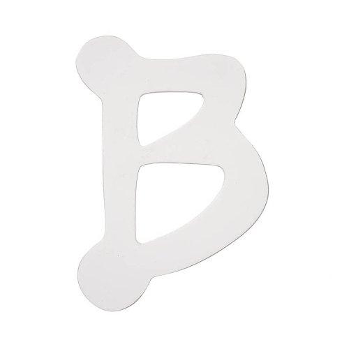 Darice 9185-B Wood Letters, Dot to Dot B, White, 5-Inch