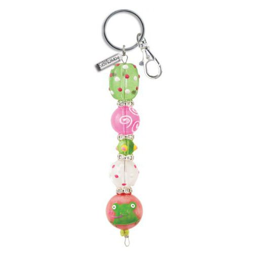 little-frog-handpainted-glass-bead-and-rhinestone-kate-macy-keychain-by-clementine-design