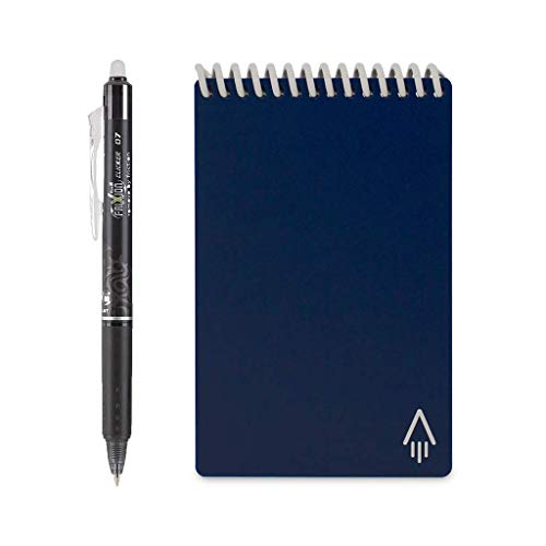 Rocketbook Everlast Mini Smart Reusable Notebook, Midnight Blue, 3.5