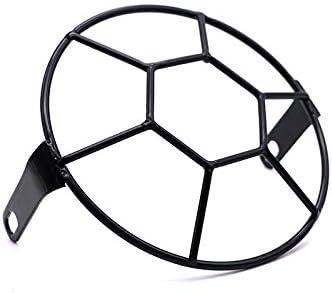 5.75 Motorcycle Football Type Headlight Mesh Grill Mask Protector Guard Cover for Honda Yamaha Suzuki Kawasaki Chopper Bobber Diamond