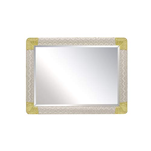 Bathroom Mirror, Wall Mounted Mirror,Stylish Rectangular PVC Crystal Frame,Ornate Home Lounge Sitting Room Washroom Decorative Large Mirror (Color : Gold, Size : 23.631.5in)