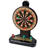 10.5'' Revolving Desktop Cork Dart Board Set with 6 Mini Darts