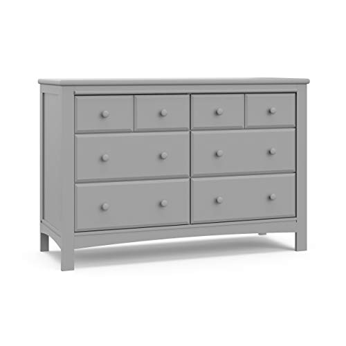 Graco Benton 6 Drawer Dresser (Pebble Gray) - Easy New Assembly Process, Universal Design, Durable Steel Hardware and Euro-Glide Drawers with Safety Stops, Coordinates with Any Nursery (Dressers Furniture Large)