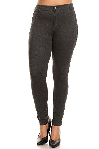 ICONOFLASH Women's Ponte Knit Stretch Skinny Trouser Pants (2XL, (Ponte Knit Skinny Pant)