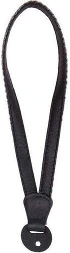 Cecilia Gallery Charcoal Baby Alpaca Wool Ring End Leather Camera Wrist Strap Black