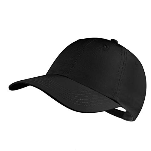 (Quivk Dry Dad hat Summer Polo Baseball Cap Mens Outdoor Running Run Sports Sport Hats Cool UV Sun Caps Light Breathable Travel Golf Unstructured Trucker Hat for Men Women Girls Unisex Plain Gift Black)