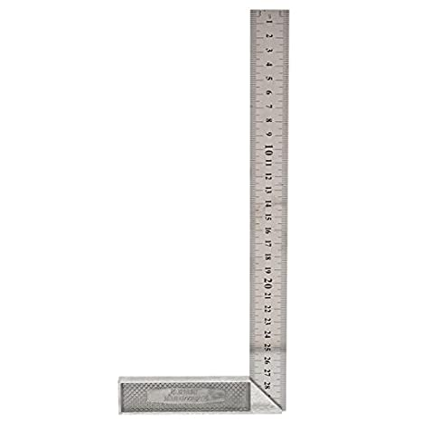 933dc4451e6 HITSAN 30cm 12inch Metal Engineers Try Square Set Measurement Tool Right  Angle 90 Degrees Ruler One Piece: Amazon.in: Home Improvement