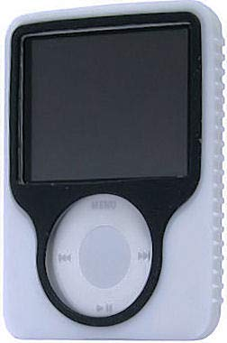 HD Accessory Tough Silicone Skin Case for 3rd Generation iPod Nano (White)