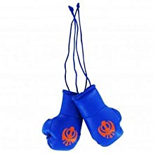 Sikh Khanda Mini Boxing Gloves for the Home, Work or Car