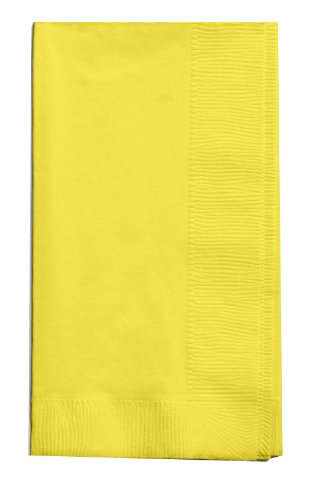 Creative Converting Touch of Color 2-Ply 50 Count Paper Dinner Napkins, Mimosa - 67102B ()