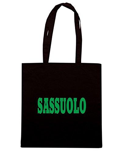 T-Shirtshock - Bolsa para la compra WC0893 SASSUOLO ITALIA CITTA STEMMA LOGO Negro