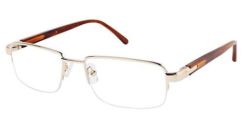 LAmy C by L'AMY 615 Eyeglass Frames - Frame SHINY GOLD, Size -