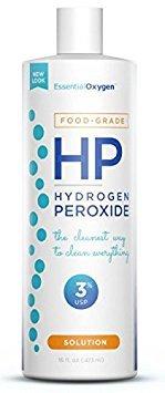 Essential Oxygen+ Hydrogen Peroxide 3% Food Grade - 16 oz (Pack of 3)